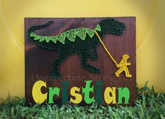 Dinosaur String Art Kids sign decor