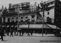Plaça Catalunya. Imatge del Zurich. ~1930.  Publicat per Giacomo Alessandro.