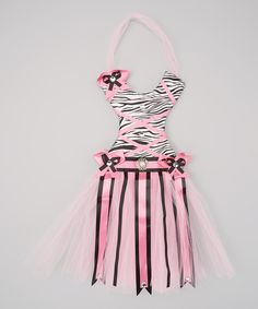 Take a look at this Pink & Black Zebra Tutu Bow Holder on zulily today!