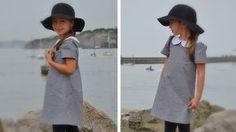 patron de couture pdf robe trapèze col Claudine enfant 2 ans, 4 ans, 6 ans, 8 ans, 10 ans et 12 ans robe lovely de lou&me