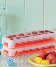 The perfect ice cube with a fruity flavored vodka and a straw