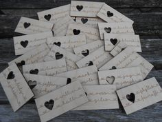 50 Custom Wedding Place Cards Escort Cards. by TreeTownPaper