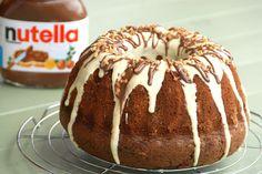 Bundt cake de Nutella con cobertura de chocolate blanco        Buscadores de recetas, hoy os ...