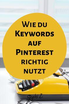 Willst du Pinterest erfolgreich nutzen, dann kommst du um eine Keywordrecherche nicht herum. Denn Pinterest ist eine Suchmaschine und die kannst du natürlich mit den richtigen Keywords optimieren. Stichwort: Pinterest SEO! Wie das funktioniert und was du mit den Keywords machen kannst, das erfährst du auf dem Blog. Pinterest für Anfänger | Pinterest Tipps deutsch | Pinterest für Unternehmen | Pinterest Marketing deutsch #onlinemarketing #stephiz #pinterestseo