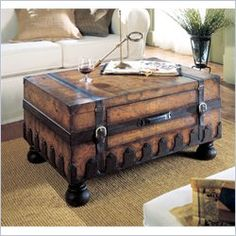 16 Old Trunks Turned Coffee Tables That Bring Extra Storage and