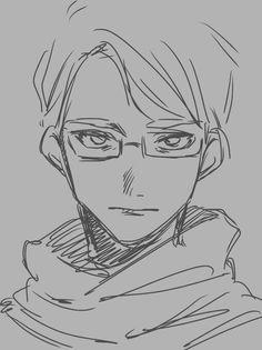 Anime Boy Sketch, Anime Drawings Sketches, Pretty Art, Cute Art, Art And Illustration, Wie Zeichnet Man Manga, Kunst Inspo, Cartoon Kunst, Arte Sketchbook