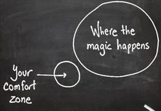 Now, how to get out of that comfort zone.....