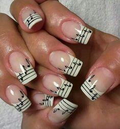 Music Note ... Nail Art Design