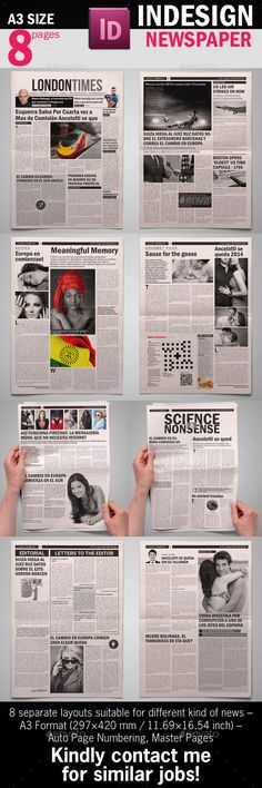 BW Newspaper Template - Newsletters Print Templates