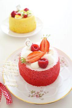 PÂTISSERIE CIEL Angel cake aux Fruits rouges
