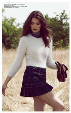 Absolutely Magazine features tartan mini kilt
