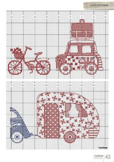 Cross Stitcher dergisinden şirin mi şirin etamin işlemeli yastık modeli, üstelik şablonuyla birlikte. Hep birlikte hippy tatile ne dersiniz?