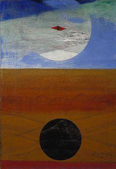 'meer und sonne', öl auf leinwand von Max Ernst (1891-1976, Germany)