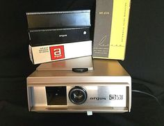 Vintage Argus 538 Slide Projector with 4 Trays Estate Find Powers Up Lights Up #Argus