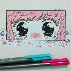 #inktober Día 14: lágrimas estelares. Porqué no sería un inktober ibunesco sin lágrimas :'D ⭐⭐⭐ El pelo fue pintado con copic, las estrellas con lápices staedtler y usé un tiralíneas 0.05 y 0.5 ^^)/ #inkto2016 #sad #tears #stars #constelaciones #hoshi #estrellas #eyes #pinkhair #kawaii #moe #cute #universe #universo #blush #instadraw #instaanime #instaart #ink #sketch
