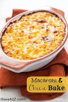 NEVER LOSE THIS RECIPE!!!  Seriously, it's AMAZING!  Macaroni and Cheese Bake Recipe! You can make it yourself in no time!