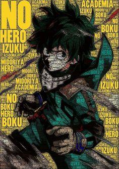 """Midoriya """"Deku"""" Izuku, text, cool, drawing; My Hero Academia"""