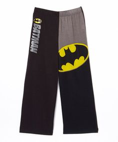 Love this Black Batman Logo Pajama Bottoms - Boys on #zulily! #zulilyfinds