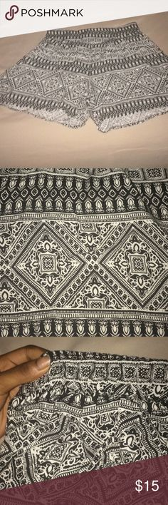 Aztec Print Shorts NWOT TAGS!  Never been worn except to try on   They're a size medium and they fit my waist but the rest is too big for me :/   Would fit a size large bc of its stretchy waist band Shorts