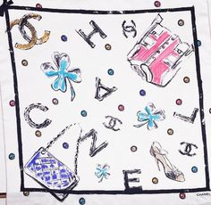 Chanel Multi Color Letter Logo Printed Silk Scarf . Get the lowest price on Chanel Multi Color Letter Logo Printed Silk Scarf  and other fabulous designer clothing and accessories! Shop Tradesy now