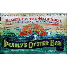 Pearly's Oyster Vintage Advertisement Plaque