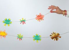 Create a garden party anywhere with this floral garland!