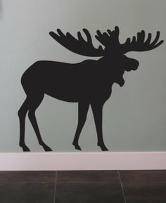 moose wall decals | Moose Vinyl Wall Decal Art Animal Graphic Sticker