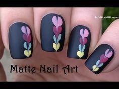 Matte Black Nail Art Tutorial: In today's nail art video I share a matte nails…