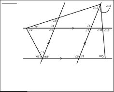 Geometry: Angle Puzzles involving Parallel Lines cut by ...