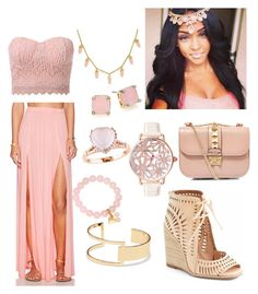"""""""rose quartz"""" by sweetheart-bk ❤ liked on Polyvore featuring Aila Blue, CC SKYE, Adele Marie, Lauren Ralph Lauren, Valentino, Betsey Johnson, Amour, Jeffrey Campbell and Sole Society"""