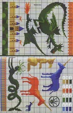 Gallery.ru / Photo # 33 - Contes et Leyendes - Mongia. Unicorns and Dragons.