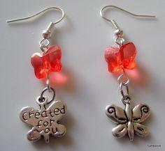 Swarovski Butterfly Earrings Silver Butterfly by Symbolizit