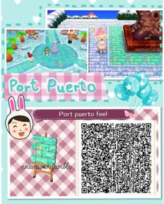 Animal Crossing: New Leaf QR Code Paths Pattern, nnamwan:   Port Puerto path from Fantasy Life is...