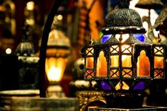 Setting the mood with some Moroccan glass lanterns. Morrocan Lamps, Moroccan Wall Art, Moroccan Style Rug, Moroccan Lighting, Moroccan Lanterns, Moroccan Design, Moroccan Decor, Moroccan Blue, Moroccan Furniture