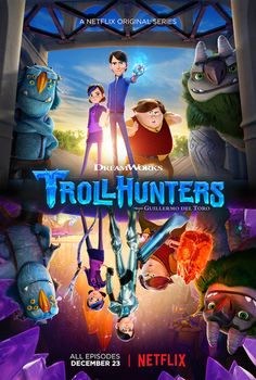 Looking for family entertainment on Netflix with all that holiday time to fill? Watch the new Dreamworks animated family adventure series on Netflix premiering on December Dreamworks Animation, Animation Series, Trollhunters Book, Series Poster, Trollhunters Characters, Tv Series 2016, Good Cartoons, Arte Nerd, The Secret World
