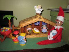 Elf in the Nativity Scene