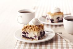 Try our fluffy and tasty Blueberry Buckle Cake after dinner today. Featuring fresh blueberries, this crumb-topped Blueberry Buckle Cake is delicious! Kraft Recipes, Cake Recipes, Dessert Recipes, Kraft Foods, Dessert Ideas, Lemon Blueberry Bars, Blueberry Cheesecake Bars, Blueberry Bread, Cool Whip