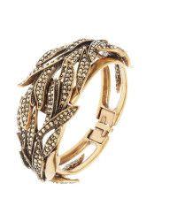 Oscar de la Renta   Swarovski Crystal Cuff Bracelet    Lyst