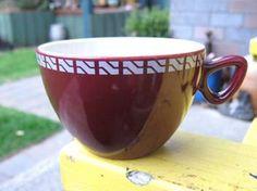 New Zealand Railways Tea Cup - unusual colour Kiwiana, Color Glaze, The Crown, Auckland, Cup And Saucer, New Zealand, Tea Cups, Auction, Ceramics