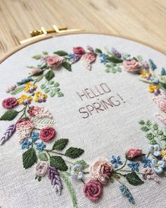 Wonderful Ribbon Embroidery Flowers by Hand Ideas. Enchanting Ribbon Embroidery Flowers by Hand Ideas. Brazilian Embroidery Stitches, Learn Embroidery, Hand Embroidery Stitches, Silk Ribbon Embroidery, Embroidery Techniques, Cross Stitch Embroidery, Embroidery Designs, Embroidery Supplies, Embroidery Patterns