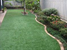 simple backyard Landscape + edging