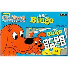 Amazon.com: ABC Bingo, Clifford The Big Red Dog, Scholastic, Alphabet, 228 Piece Set: Toys & Games