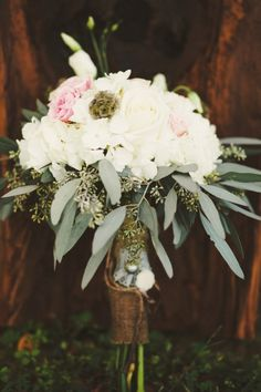 mad about this bouquet with eucalyptus leaves! // photo by Ulmer Studios