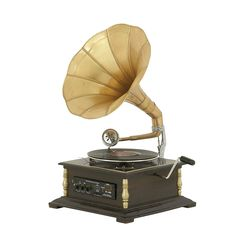 Amazon.com: Woodland Imports Antique And Classy Metal Wood Gramophone: Home & Kitchen