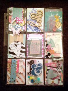 Heidi Swapp themed pocket letter