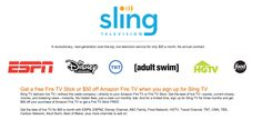 Amazon Announces Sling TV! A New Television Service For Only $20 A Month! (No Annual Contract!) - Freebies2Deals