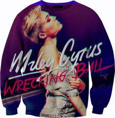 Miley Cyrus Wrecking Ball Sweater Crewneck Sweatshirt on Etsy, $59.87