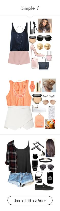 """""""Simple """" by nikola-sperlikova ❤ liked on Polyvore featuring Valentino, 3.1 Phillip Lim, Marc Jacobs, Bobbi Brown Cosmetics, Christian Louboutin, Eddie Borgo, Lucky Brand, Nails Inc., Michael Kors and Herschel Supply Co."""