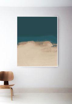 large printable teal art print beige abstract print dark etsy teal rooms