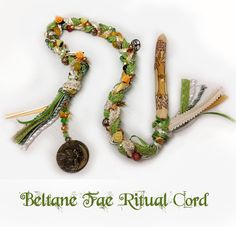Beltane Fae Ritual Cord - pagan, wand, magic, wicca, wiccan, witchcraft, fairy, faery, moon, witch, altar tools via Etsy